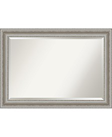 "Parlor Silver-tone Framed Bathroom Vanity Wall Mirror, 41.5"" x 29.50"""