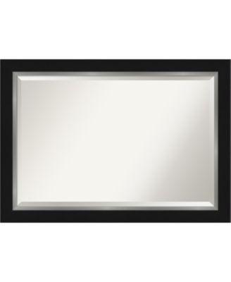 "Eva Silver-tone Framed Bathroom Vanity Wall Mirror, 41.25"" x 29.25"""