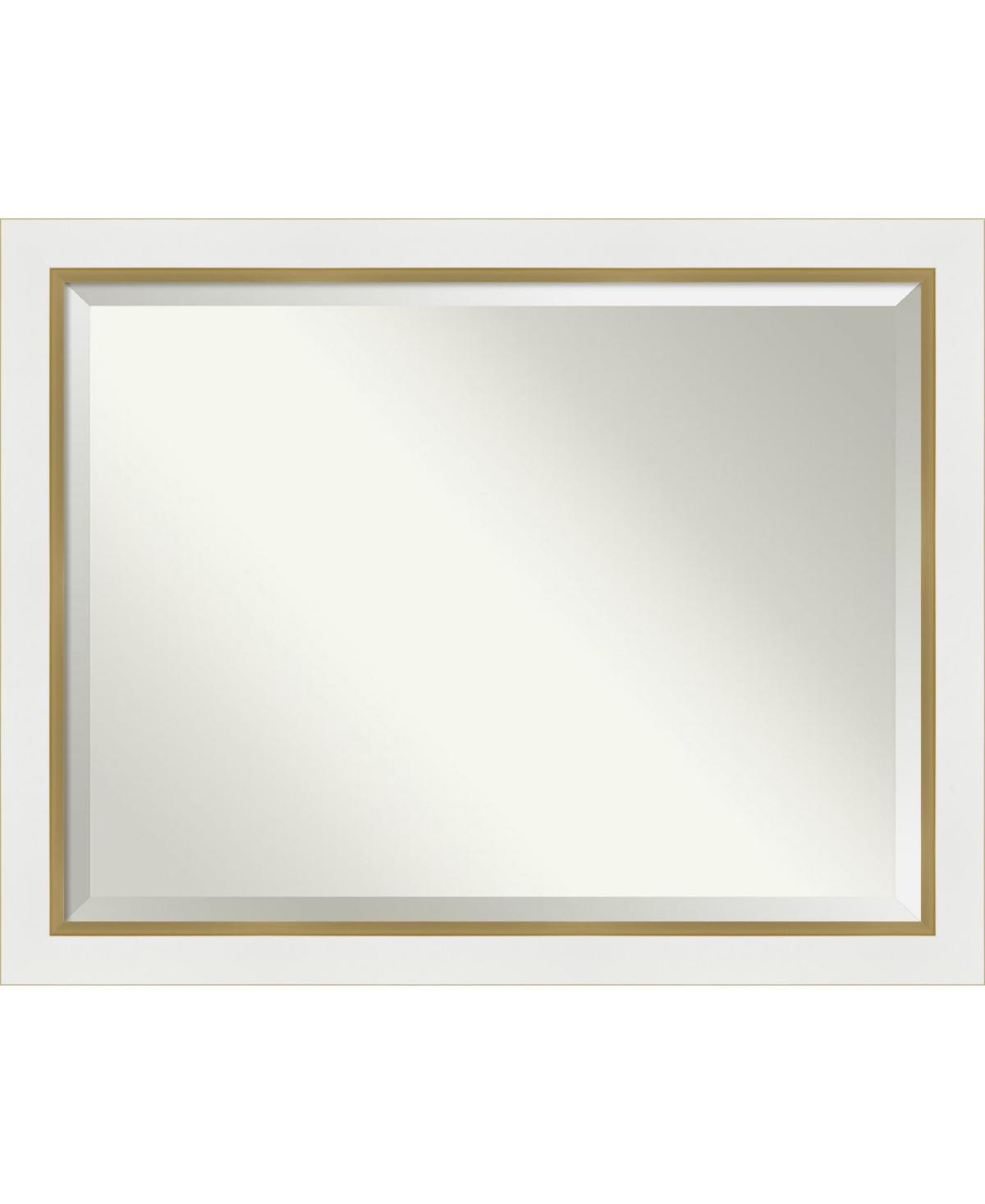 Amanti Art Eva Gold-tone Framed Bathroom Vanity Wall Mirror, 45.25