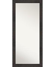 """Rustic Plank Framed Floor/Leaner Full Length Mirror, 29.38"""" x 65.38"""""""