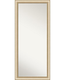 "Elegant Brushed Honey Framed Floor/Leaner Full Length Mirror, 28.75"" x 64.75"""