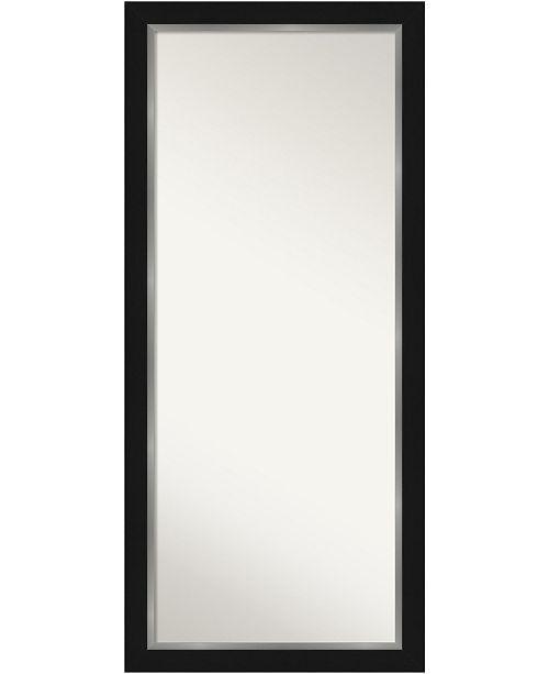 Amanti Art Eva Silver Tone Framed Floor Leaner Full Length Mirror