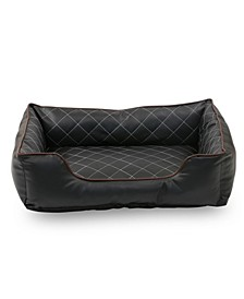 Luxury All Sides Faux Leather Rectangle Pet Bed Collection