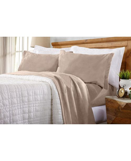 Home Fashion Designs Home Fashions Designs Maya Collection Fleece Solid Twin Xl Sheet Set Reviews Sheets Pillowcases Bed Bath Macy S