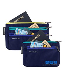 World Travel Essentials Currency and Passport Organizers, Set of 2