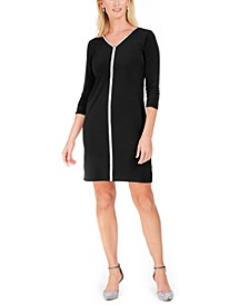 Jewel-Neck Sheath Dress, Created For Macy's