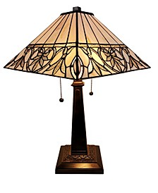Tiffany Style Floral Mission Table Lamp
