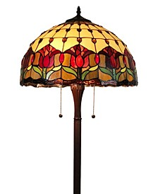 Tiffany Style Tulips Floor Lamp