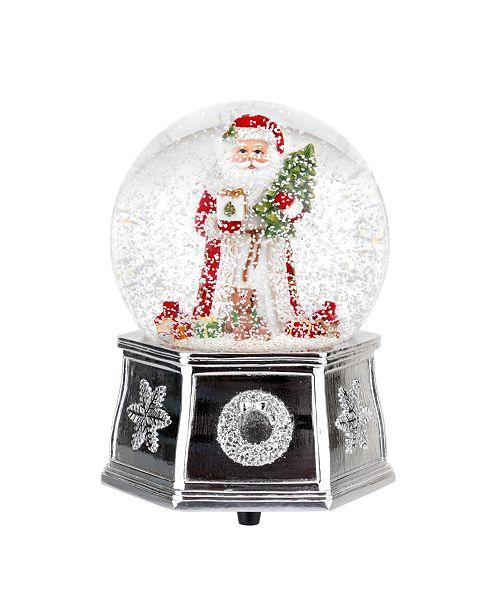 Spode Red Santa Musical Snow Globe