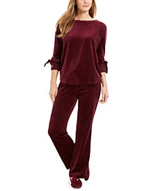 Velour Top & Pants, Created For Macy's