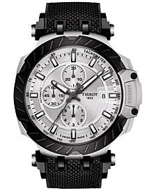 Men's Swiss Automatic Chronograph T-Race Black Rubber Strap Watch 48.8mm