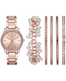 Women's Rose Gold-Tone Bracelet Watch 36mm Box Set