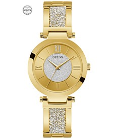 Women's Gold-Tone Stainless Steel & Swarovski Crystal Bangle Bracelet Watch 36mm