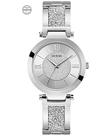 Women's Stainless Steel & Swarovski Crystal Bangle Bracelet Watch 36mm