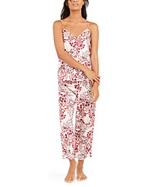 Women's Floral-Print Cami & Capri Pajama Set