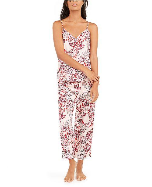 Josie Women's Floral-Print Cami & Capri Pajama Set