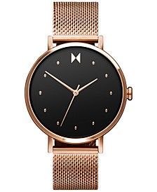 Women's Dot Spark Rose Gold-Tone Stainless Steel Mesh Bracelet Watch 36mm