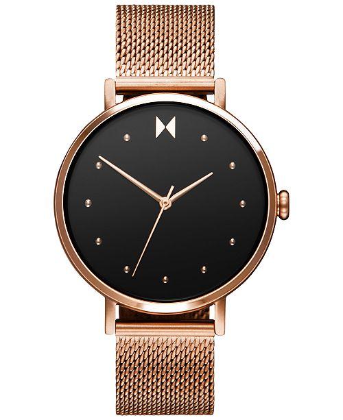 MVMT Women's Dot Spark Rose Gold-Tone Stainless Steel Mesh Bracelet Watch 36mm