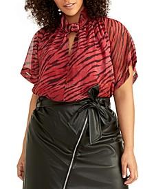 Trendy Plus Size Kimono Top