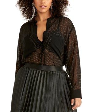 Rachel Rachel Roy T-shirts TRENDY PLUS SIZE WINONA SHIRT