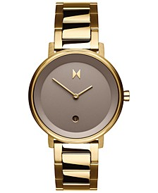 Women's Signature II Champagne Gold Ion-Plated Stainless Steel Bracelet Watch 34mm