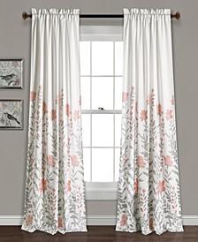 """Aprile 52"""" x 84"""" Floral Curtain Set"""