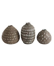 Brown Decorative Vases, Set of 3