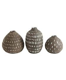 Brown Decorative Vases, Set of 3
