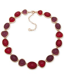 """Gold-Tone Stone Collar Necklace, 16"""" + 3"""" extender"""