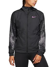 Women's Essential Water-Repellent Hooded Running Jacket