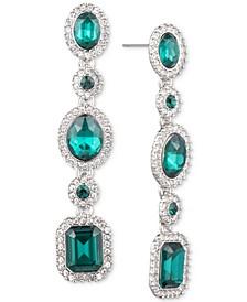 Pavé & Stone Linear Drop Earrings