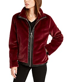 Faux-Fur Zip-Front Jacket, Created For Macy's