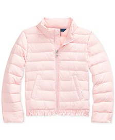 Polo Ralph Lauren Little Girl's Ruffled Quilted Down Jacket