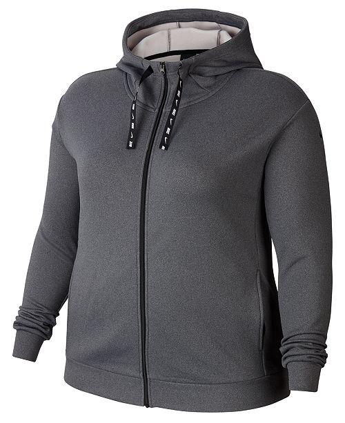 Nike Plus Size Therma Fleece Zip-Up Training Hoodie