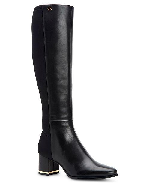 Calvin Klein Women's Freeda Wide-Calf Boots