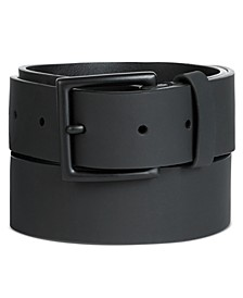 Men's Rubberized Leather Belt