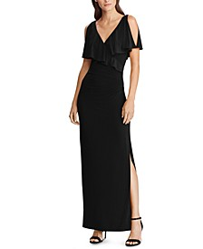 Cold-Shoulder Jersey Gown