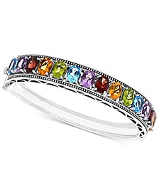 EFFY® Multi-Gemstone Bangle Bracelet (19-1/2 ct. t.w.) in Sterling Silver