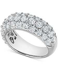 Diamond Three-Row Band (3 ct. t.w.) in 14k White Gold