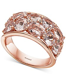 EFFY® Morganite (5-3/8 ct. t.w.) & Diamond Accent Statement Ring in 14k Rose Gold