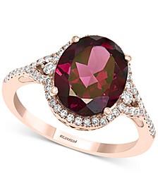 EFFY® Rhodolite Garnet (4-3/8 ct. t.w.) & Diamond (1/3 ct. t.w.) Ring in 14k Rose Gold
