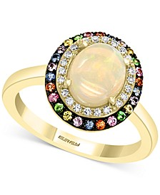 EFFY® Multi-Gemstone (1-1/5 ct. t.w.) & Diamond (1/10 ct. t.w.) Statement Ring in 14k Gold