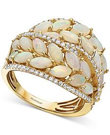 EFFY® Opal (3-1/3 ct. t.w.) & Diamond (3/8 ct. t.w.) Statement Ring in 14k Gold