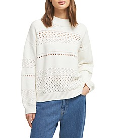 Trista Cotton Pointelle Sweater