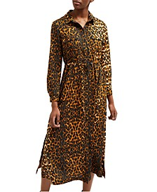 Leopard-Print Shirtdress