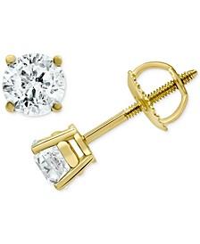 Diamond Stud Earrings (1 ct. t.w.) in 14k Gold