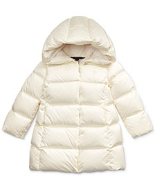 Little Girls Quilted Down Long Coat