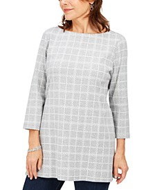 Cotton Plaid Tunic, Created for Macy's