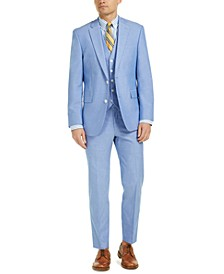 Men's Modern-Fit TH Flex Stretch Chambray Suit Separates