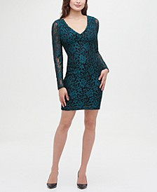 Lace Long Sleeve Body Con Dress